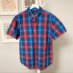 American Eagle Plaid Short Sleeve Shirt